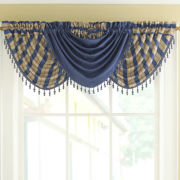 Fortune Faux-Silk Solid Rod-Pocket Waterfall Valance