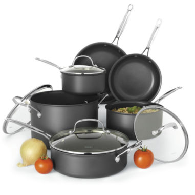 jcpenney.com | Cuisinart® 10-pc. Hard-Anodized Cookware Set