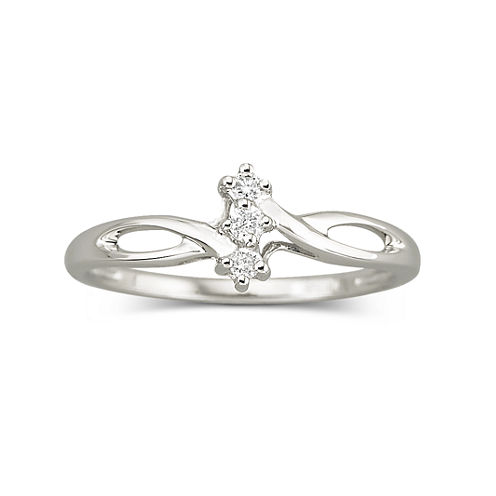 Diamond-Accent Promise Ring Sterling Silver
