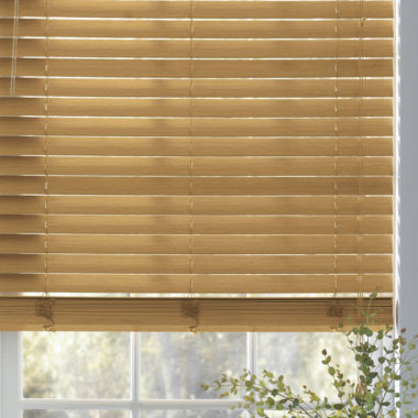 "jcpenney.com | JCPenney Home™ Custom 2"" Faux-Wood Horizontal Blinds"