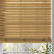 "Custom 2"" Wood Grain Faux-Wood Blinds"