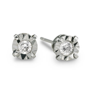 jcpenney.com | 1/5 CT. T.W. Diamond Stud Earrings 10K White Gold