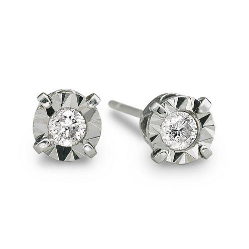 1/5 CT. T.W. Diamond Stud Earrings 10K White Gold