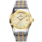 Bulova® Mens Two-Tone Bracelet Watch