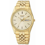 Pulsar® Men's Gold-Tone Dress Watch
