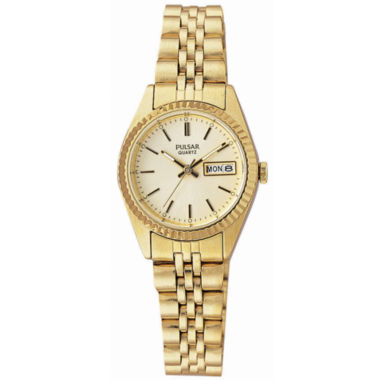 jcpenney.com | Pulsar® Womens Gold-Tone Dress Watch PXX004