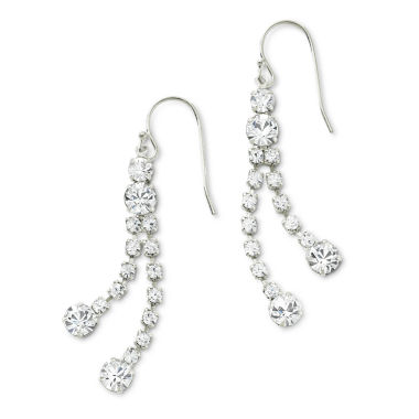 jcpenney.com | Vieste® Rhinestone Strand Earrings