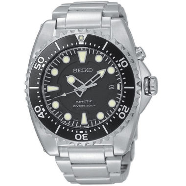 jcpenney.com | Seiko® Mens Silver-Tone Kinetic Diver Watch SKA371