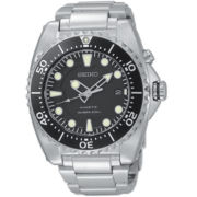 Seiko® Mens Silver-Tone Kinetic Diver Watch