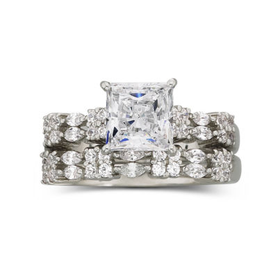 DiamonArt 21 CT TW Cubic Zirconia Bridal Set JCPenney