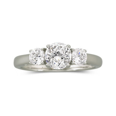 jcpenney.com | DiamonArt® Cubic Zirconia 1.5 CT.T.W. Bridal Ring