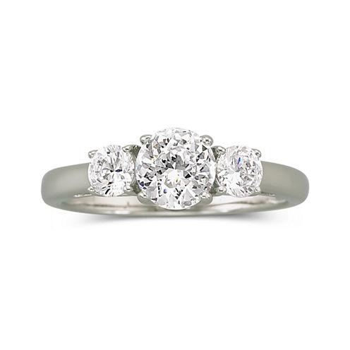 DiamonArt® Cubic Zirconia 1.5 CT.T.W. Bridal Ring