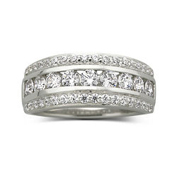 DiamonArt® Cubic Zirconia 1 1/10 CT. T. W. Band
