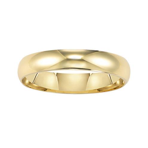 Womens 14K Gold 4mm Wedding Band