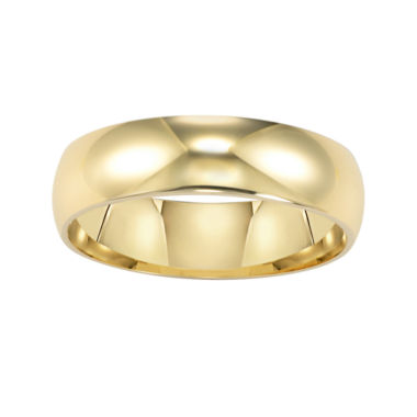 jcpenney.com | BEST VALUE! 14K Gold 6mm Men's Ring