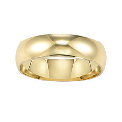 BEST VALUE! 14K Gold 6mm Men's Ring