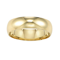 BEST VALUE! Wedding Band, Womens 6.5mm 14K Comfort Fit