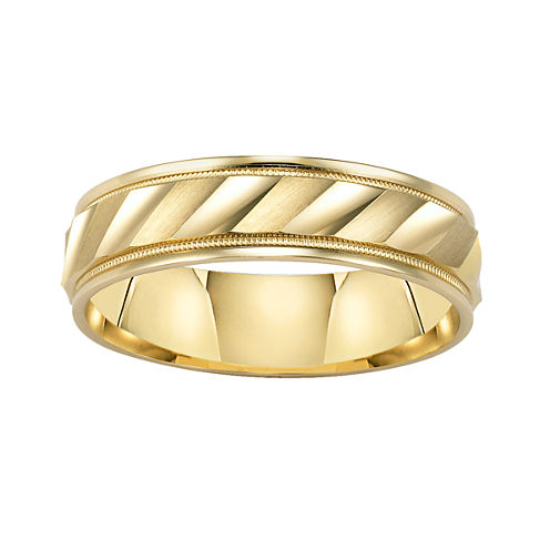 Wedding Band, Womens 6mm Comfort Fit Engraved