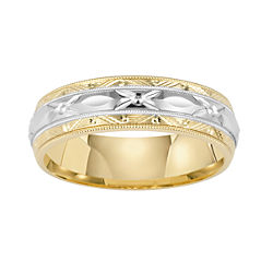 BEST VALUE! Wedding Band, Womens 6.5mm Engraved Comfort Fit