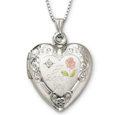 jcpenney.com | I Love You Sterling Silver Heart Locket