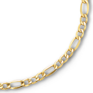 "jcpenney.com | 10K Yellow Gold 20"" Hollow Figaro Chain"