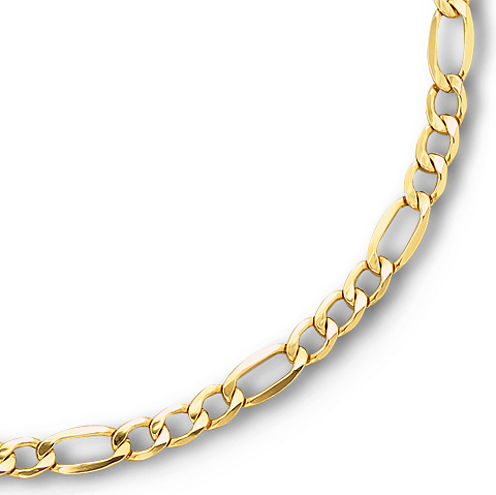 """Made in Italy 10K Yellow Gold 20"""" Hollow Figaro Chain"""