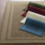 Double Border Washable Rectangular Rug