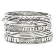 Bold Elements 14-pc. Silver-Tone Bangle Bracelet Set