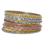Decree® Mixed-Finish 14-pc. Bangle Bracelet Set