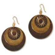 Decree® Disc Starburst Design Earrings
