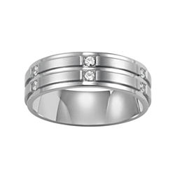 BEST VALUE! Men's 7mm Diamond Band in Stainless Steel