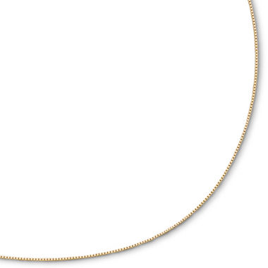 "jcpenney.com | Box Chain, 14K Gold 22"" .75mm Venetian"