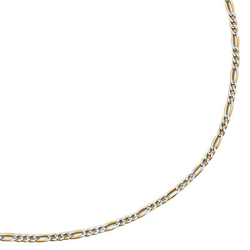 "10K Gold Two-Tone 18-20"" Hollow Figaro Chain"