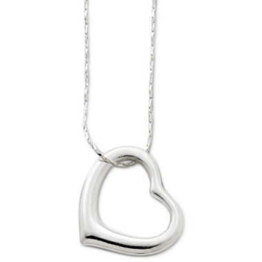 jcpenney.com | Decree® Long Openwork Heart Pendant Necklace