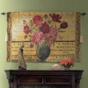 Paris Rose Wall Tapestry