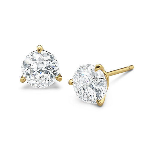 DiamonArt® 3 CT. T.W. Cubic Zirconia Stud Earrings