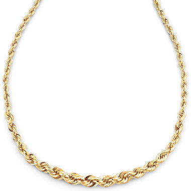 "jcpenney.com | 10K Gold 18"" Graduated Rope Chain"