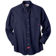 Dickies® Long-Sleeve Denim Work Shirt–Big & Tall