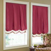 Custom Milan Solid Balloon Roman Shade - Sizes