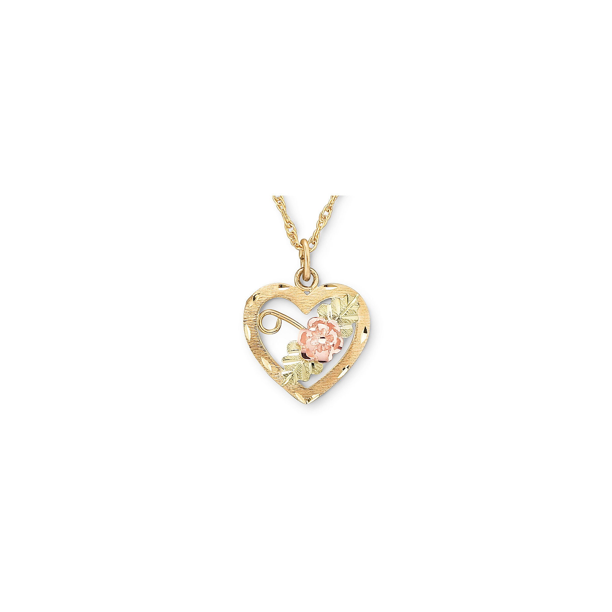Black Hills Gold Jewelry by Coleman Heart Pendant Necklace