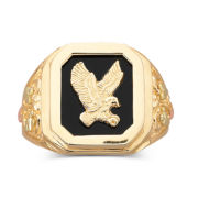 Black Hills Gold® Mens Eagle Ring