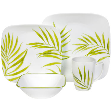 jcpenney.com | Corelle® Square™ Bamboo Leaf 16-pc. Dinnerware Set