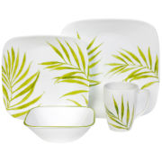 Corelle® Square 16-pc. Bamboo Leaf Dinnerware Set