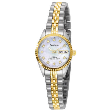 jcpenney.com | Armitron® Womens Two-Tone Mother-of-Pearl Watch
