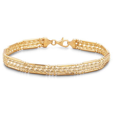 jcpenney.com | 10K Yellow Gold Hollow Woven Rope Bracelet