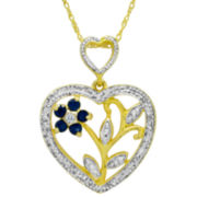 Sapphire & Diamond-Accent Pendant