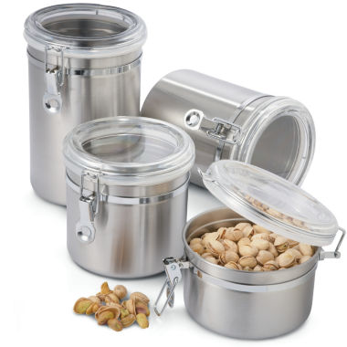 jcpenney.com | OGGI™ 4-pc. Stainless Steel Canister Set