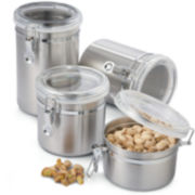 Oggi 4-pc. Stainless Steel Canister Set