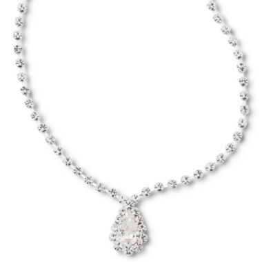 jcpenney.com | Vieste® Crystal Pear-Drop Necklace