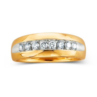 jcpenney.com | Mens Diamond Band, 1/2 CT. T.W.